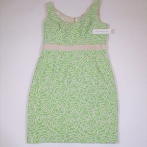 New Maggie London 12 Green Floral Pencil Dress NWT